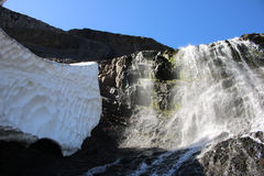 El hielo y la caída Foto de archivo
