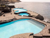 El Hierro Canary Island Spain. Landscape Swimming Pool Of El Hierro Island Canary Islands Spain royalty free stock images