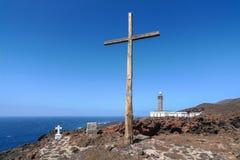 EL Hierro - cruce en el faro Faro de Orchilla Imágenes de archivo libres de regalías