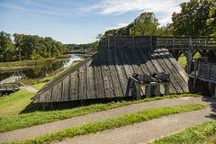 El hierro histórico nacional trabaja alrededor en Saugus, Massachusetts fotos de archivo libres de regalías