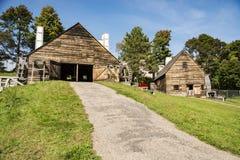El hierro histórico nacional trabaja alrededor en Saugus, Massachusetts imagenes de archivo
