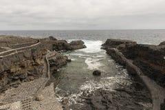 El Hierro island coast. Coast of the Island of El Hierro, Canary Islands stock photography