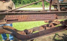 El hierro original de Galion trabaja el logotipo Number pre modelo Imagen de archivo libre de regalías