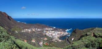 El Hierro - Panorama of Tamaduste stock photography