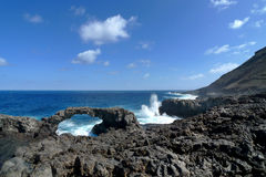 El Hierro - Rock arch at Charco Manso Stock Images