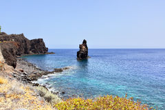 El Hierro. Rocky coast at El Hierro island, Canaries stock photography