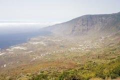 El Hierro, Spain. Viewpoint of Frontera, El Hierro, Canary Islands, Spain royalty free stock images