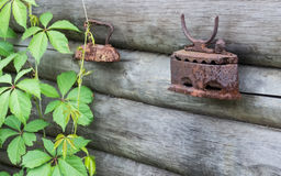 El hierro viejo para planchar Fotografía de archivo libre de regalías