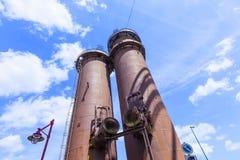 El hierro viejo trabaja los monumentos Imagenes de archivo