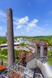 El hierro viejo trabaja los monumentos en Neunkirchen Imágenes de archivo libres de regalías