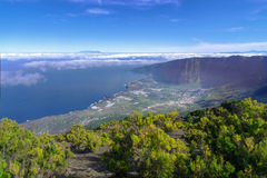 El Hierro - View from Malpaso in the El Golfo. View from Malpaso in the El Golfo valley on El Hierro, Canary Islands, Spain. In the background on the left the royalty free stock photo