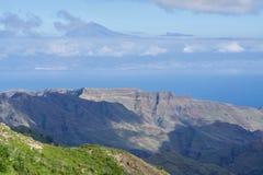 EL Hierro, vue de La Gomera Photographie stock