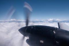 El Himalaya de un avión, Nepal Imagen de archivo