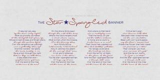 El himno de los Estados Unidos de América - el himno americano ilustración del vector