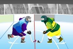 El hockey hace frente apagado Imagenes de archivo