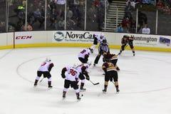 El hockey sobre hielo hace frente apagado Fotos de archivo libres de regalías