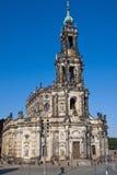 El Hofkirche en Dresden Fotografía de archivo