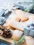 El hogar del invierno hizo las galletas para el bocado de la Navidad Imágenes de archivo libres de regalías