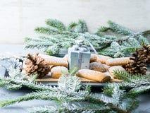 El hogar del invierno hizo las galletas para la Navidad Imagenes de archivo