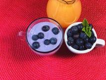 El hogar delicioso hizo el desayuno sano con las frutas y los cereales Foto de archivo libre de regalías