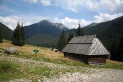 El hogar en las montañas de Tatry Foto de archivo libre de regalías