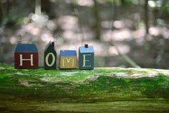 ¿El hogar es donde? Imagen de archivo