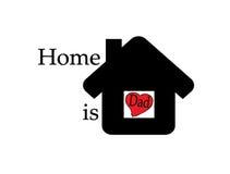 El hogar es papá Libre Illustration