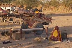 El hogar es un carro del camello Fotografía de archivo