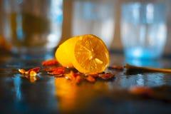 El hogar hecho preservó el limón recto Fotos de archivo