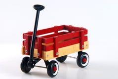 El hogar hizo el carro rojo Foto de archivo