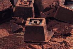 El hogar hizo el chocolate oscuro fotos de archivo libres de regalías