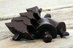 El hogar hizo el chocolate oscuro Foto de archivo