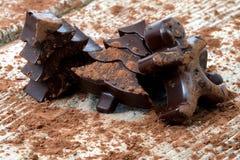 El hogar hizo el chocolate oscuro Foto de archivo libre de regalías