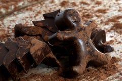 El hogar hizo el chocolate oscuro fotografía de archivo libre de regalías