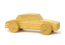 El hogar hizo el coche de madera del juguete Fotografía de archivo