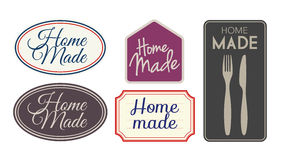 El hogar hizo etiquetas Fotografía de archivo