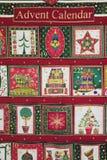 El hogar hizo la Navidad Advent Calendar Foto de archivo libre de regalías