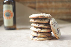 El hogar hizo las galletas del chocolate Fotos de archivo
