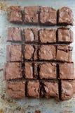 El hogar hizo los brownie de la mantequilla de cacahuete foto de archivo