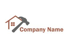 El hogar trabaja el logotipo Imágenes de archivo libres de regalías
