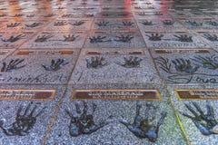 El Hollywood Rockwalk imágenes de archivo libres de regalías