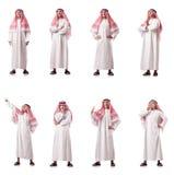 El hombre árabe aislado en el blanco fotos de archivo