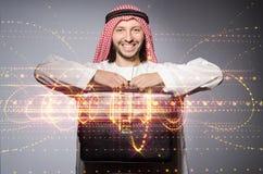 El hombre árabe en concepto de la diversidad Fotos de archivo