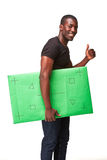 El hombre africano sonriente como hombre de negocios negro con Fotos de archivo