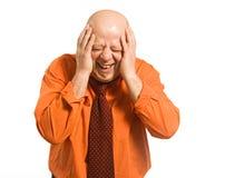 El hombre calvo de risa Foto de archivo libre de regalías