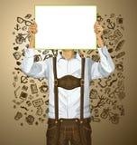 El hombre con escribe al tablero en Oktoberfest libre illustration