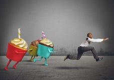 El hombre corre lejos Fotografía de archivo libre de regalías