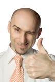 El hombre da los pulgares para arriba Imagen de archivo libre de regalías