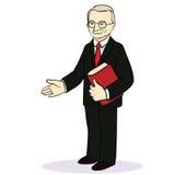 El hombre da una mano para un apretón de manos Hombre de negocios Imágenes de archivo libres de regalías