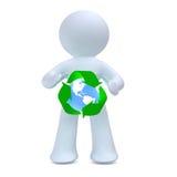 El hombre de cueva de reciclaje imagen de archivo libre de regalías